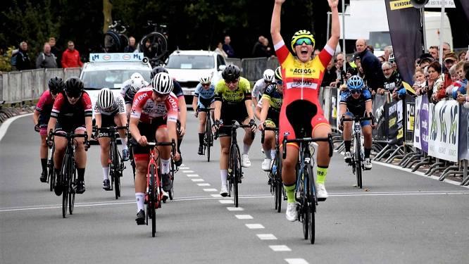 """Ines Van de Paar is Vlaams juniorekampioene: """"Mooi om met winst én een titel het wegseizoen af te sluiten"""""""
