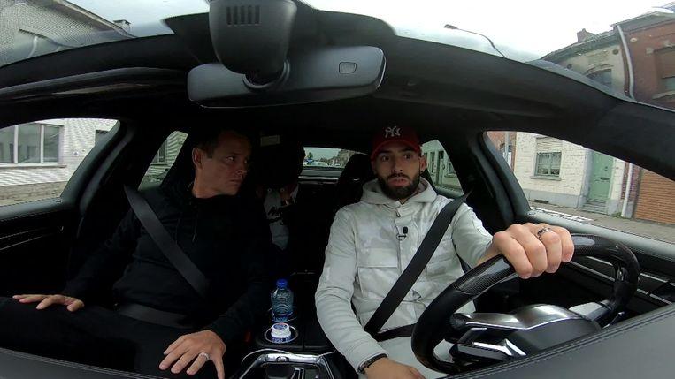 Yannick Carrasco werd in de auto geïnterview door Gilles De Bilde
