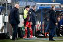 Steven Berghuis kreeg woensdagavond rood, waarna Feyenoord een 1-3 voorsprong nog weggaf in Heerenveen.