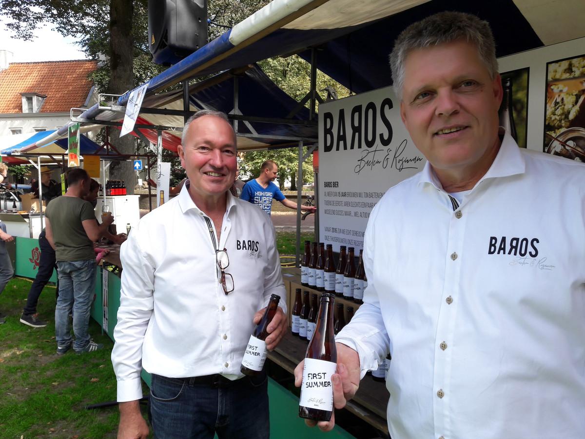 Peter Rosman (links) en Ton Baeten, het duo achte Baros, dat met First Summer doordrong tot de laatste drie van Brabants Lekkerste Bier 2018.