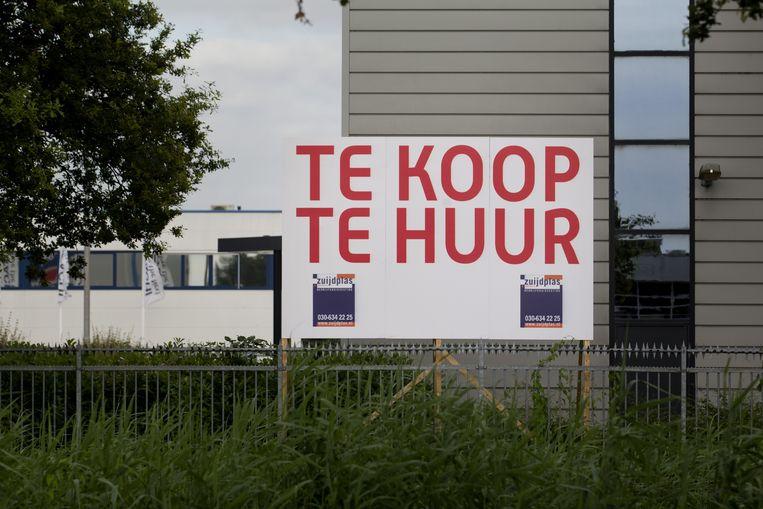 Een leegstaand pand op een bedrijventerrein in Nieuwegein.  Beeld ANP