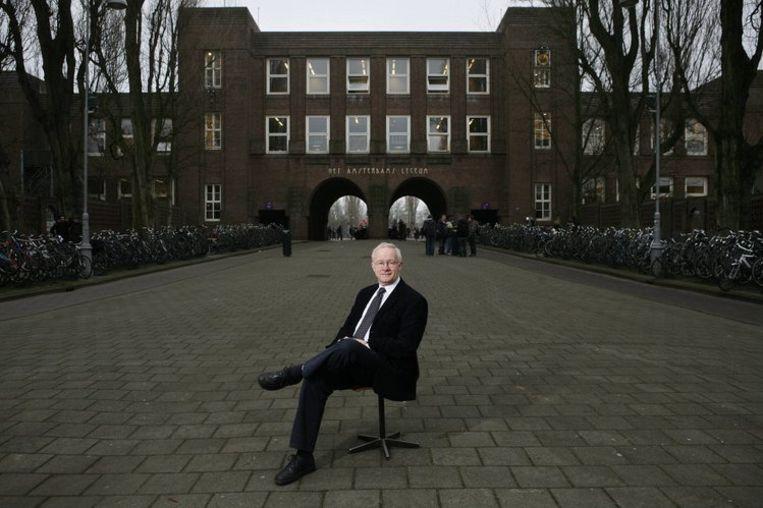 Het Amsterdams Lyceum heeft zoveel aanmeldingen gehad dat het maandag moest loten. Het lyceum heeft dit jaar een extra eerste klas in het leven geroepen. Foto AP Beeld
