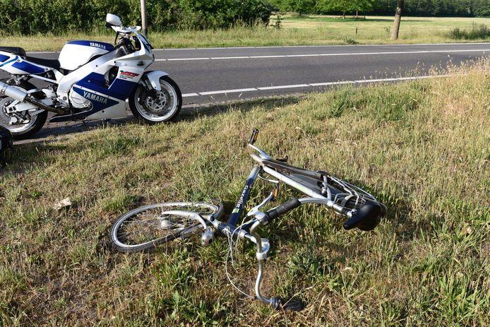 De fiets liep zware schade op