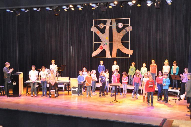 De leerlingen schitterden op het podium van Den Hoek.