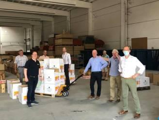 Rotary Ronse helpt voedselpakketten uitdelen in Verviers