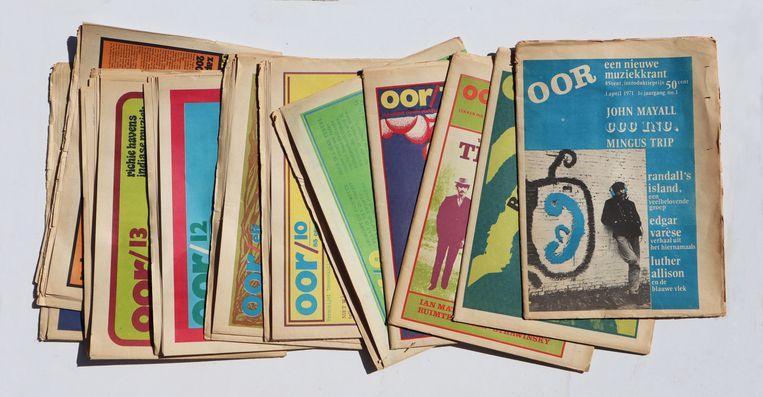 De eerste jaargang van OOR uit 1971.  Beeld