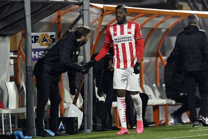 Ibrahim Sangaré viel dinsdag in het duel met FC Volendam uit.