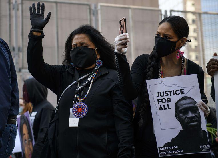 Demonstranten in Minneapolis. Beeld AFP