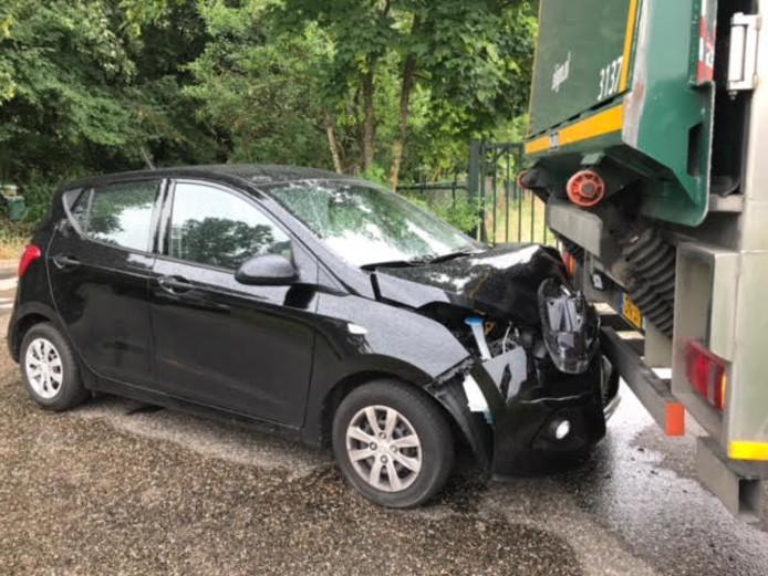 Een ongeluk donderdagmiddag op de Schotsheuvel in Nuland.