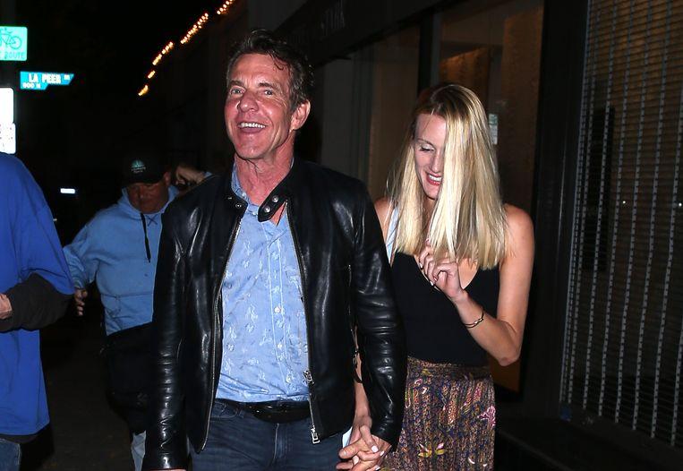 Dennis Quaid en z'n - toen nog - vriendin Laura Savoie in 2019