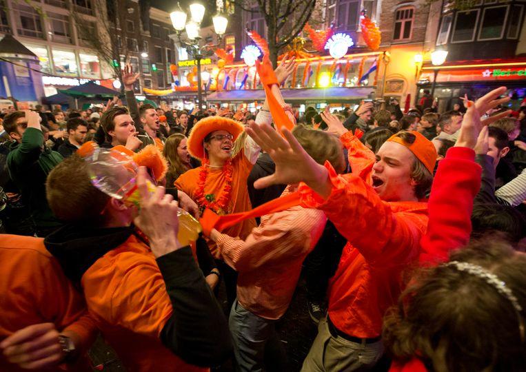 Leidseplein during Queen's Night 2013 Beeld ANP
