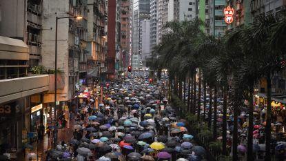 Zee van paraplu's bij nieuw massaprotest in Hongkong