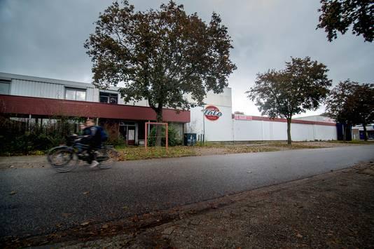 De loods aan de Kraanvogelstraat in Wijchen.