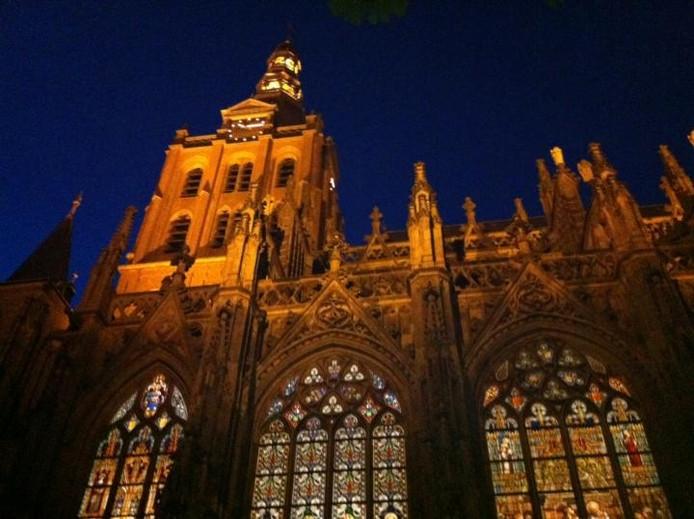 de sint jan behoort tot de prominente gebouwen die worden verlicht via de stichting lichtcentrum