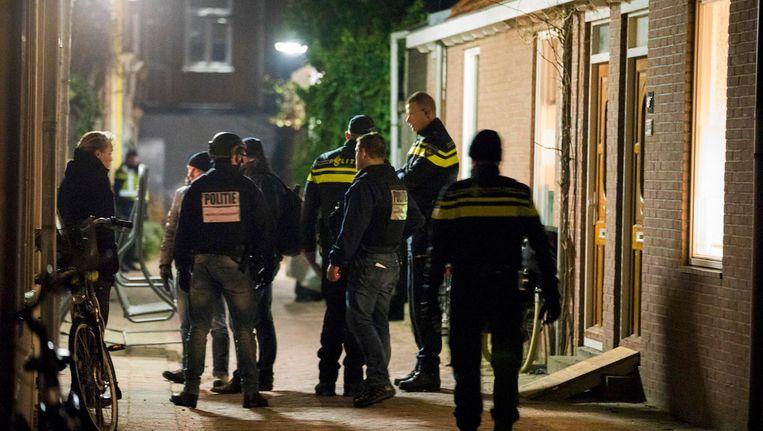 De politie ontruimde in januari van vorig jaar het clubhuis van de Hells Angels in Haarlem. Beeld anp