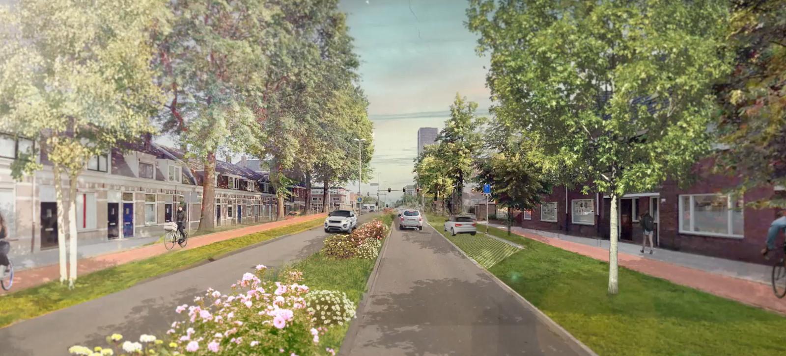Hoe de Ringbaan-West zou kunnen worden. Wensbeeld van de gemeente.