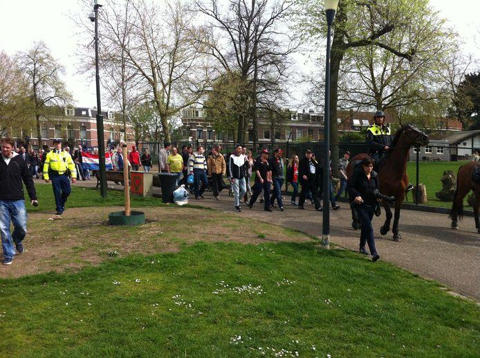 De demonstratie in Nijmegen is in volle gang. Foto: DG