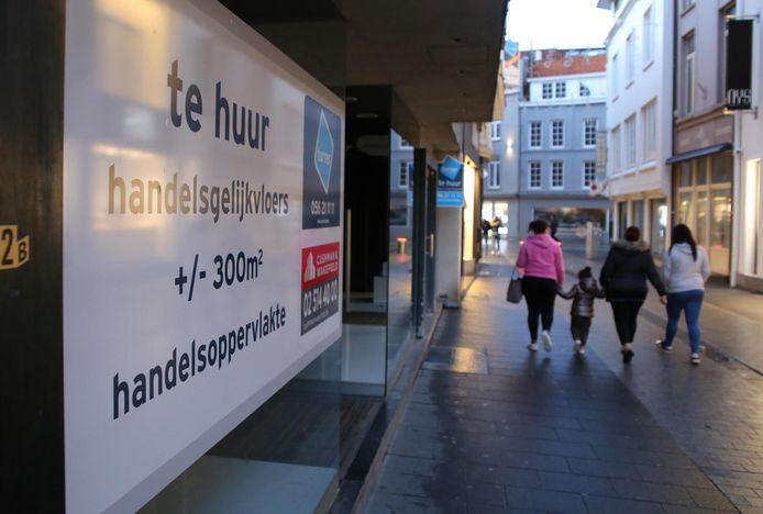 Het stadsbestuur wil de winkelleegstand terugdringen.