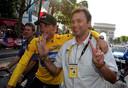 Lance Armstrong (L) en Johan Bruyneel.
