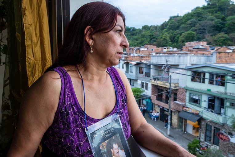 Luz Elena Galeano, wier man Luis Javier Laverde verdween in 2008.  Beeld Ynske Boersma