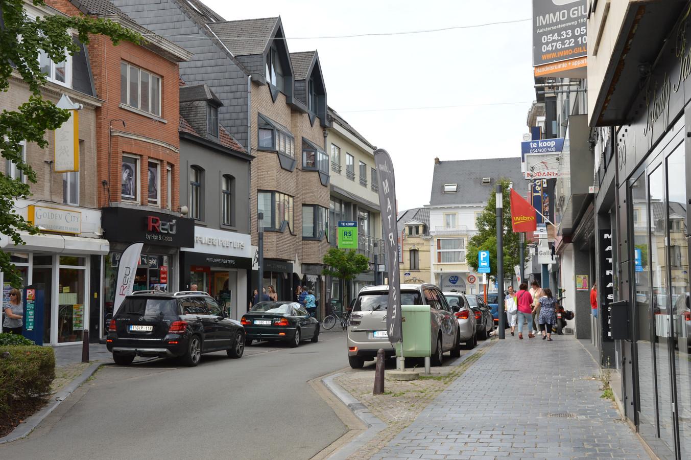 De Beverstraat in het stadscentrum van Ninove.