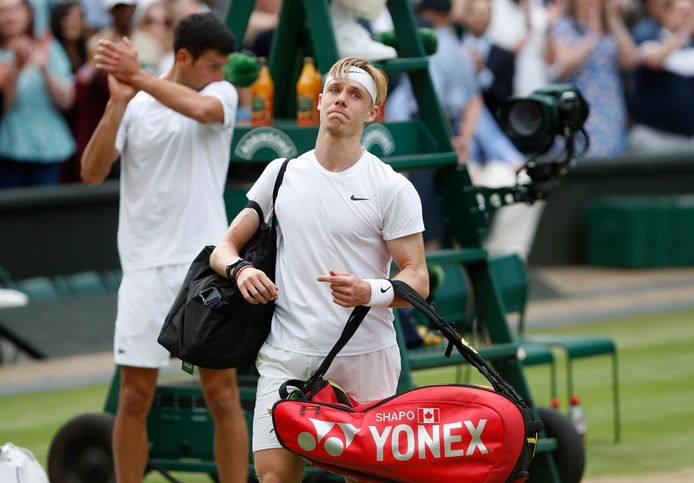 Tennis - Wimbledon - All England Lawn Tennis and Croquet Club, London, Britain - July 9, 2021 Canada's Denis Shapovalov leaves the court after losing his semi final match against Serbia's Novak Djokovic REUTERS/Paul Childs