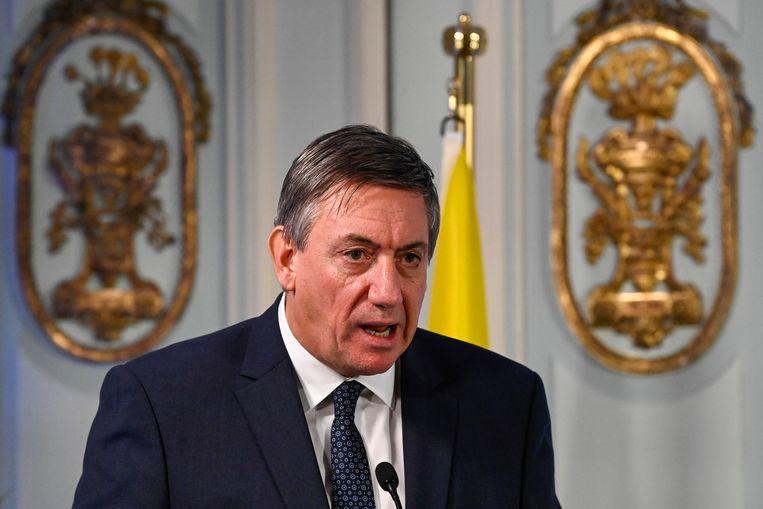 Vlaams minister-president  Jan Jambon op de extra ministerraad van dinsdag. Beeld BELGA
