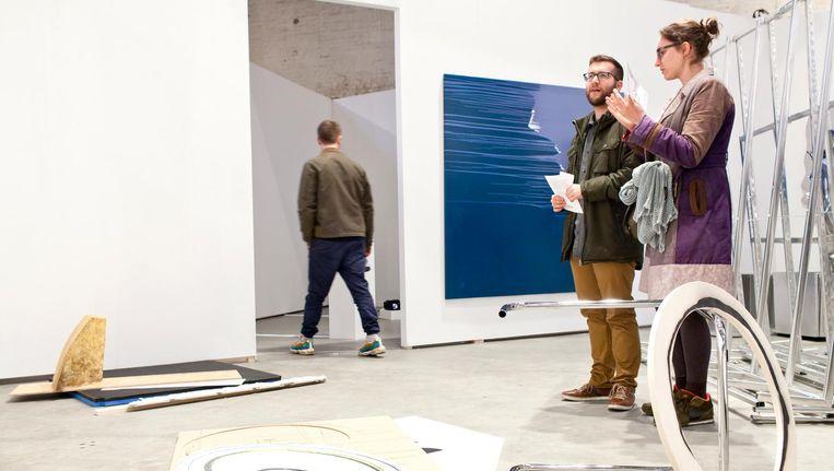 Unfair Amsterdam, dat onder meer een kunstbeurs organiseert op het Westergasterrein, heeft subsidie gekregen voor 2019-2020. Beeld Roy del Vecchio