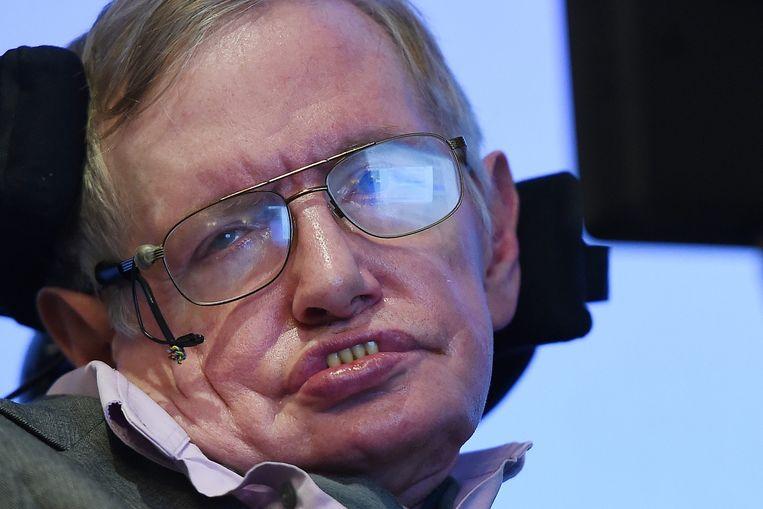 Stephen Hawking tijdens zijn persconferentie op 2 december jongstleden. Beeld epa