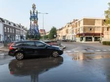 Oppassen voor natte voeten in de Sophiastraat in Breda