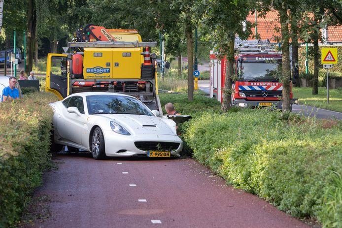 De Ferrari belandde op het fietspad