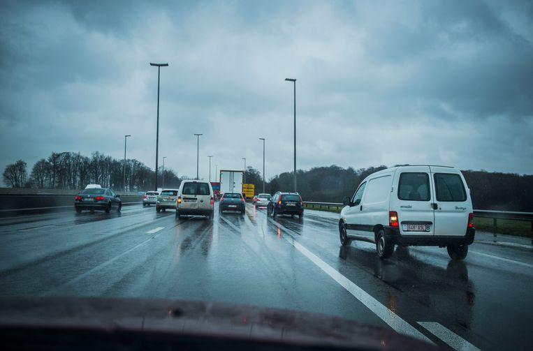 Karel Duerinckx ritsen Brussel auto rijden file verkeer Beeld Karel Duerinckx