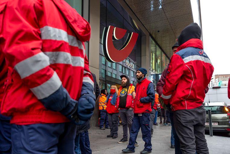 Op 19 november werd nog actie gevoerd door misnoegde werknemers. Beeld BELGA