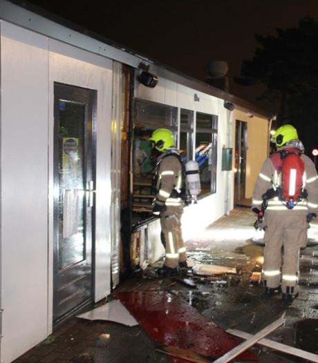 Brand bij kantine van camping Hoek van Holland