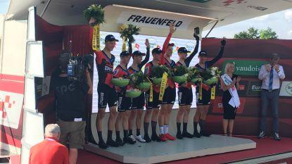 Van Avermaet wint ploegentijdrit met BMC, Küng eerste leider in Zwitserland