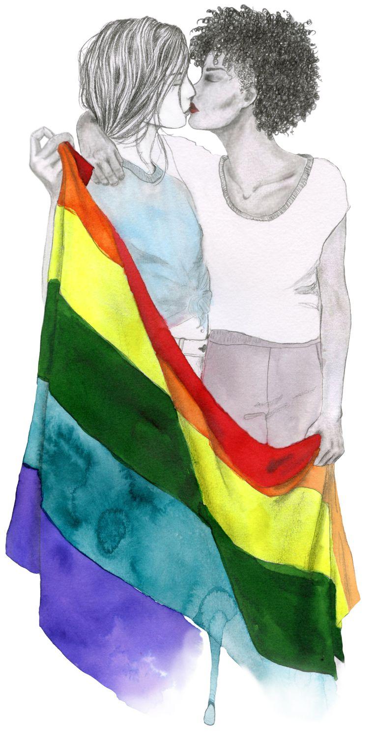 Het was tijd voor een goed gesprek over homo's en lesbiennes. Beeld Inge Duiker