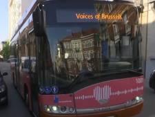 Un bus de la STIB diffuse des messages privés aux bruxellois