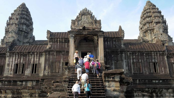 Le temple d'Angkor Vat au Cambodge.