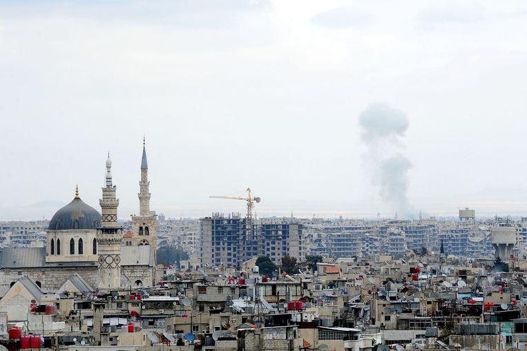 Gisteren werd Oost-Ghouta nog gebombardeerd door het Syrische regeringsleger. Beeld