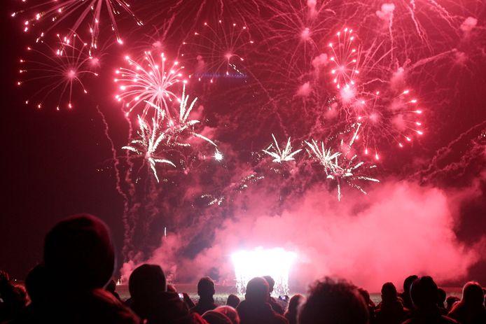 Een vuurwerkdemonstratie in Milheeze.