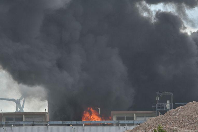 Bij Mouterij Albert in Ruisbroek aan de Kanaaldijk in Ruisbroek is maandagnamiddag brand uitgebroken.