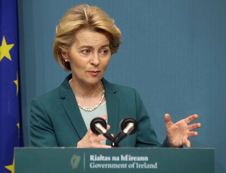 Ursula von der Leyen, voorzitter van de Europese Commissie Beeld REUTERS