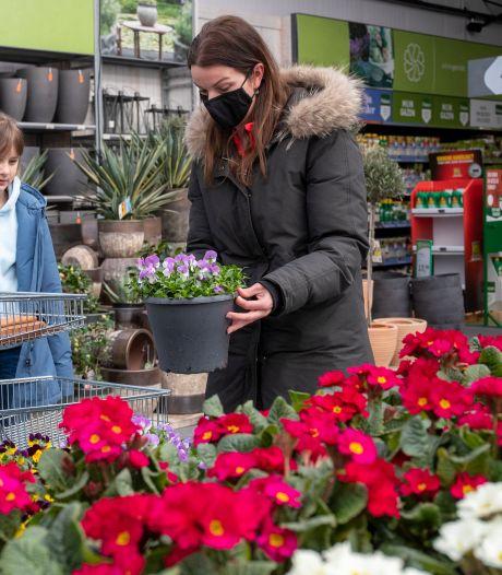 Kijken naar en voelen aan de viooltjes in Edes tuincentrum: 'Lekker tuin beetje mooier maken'
