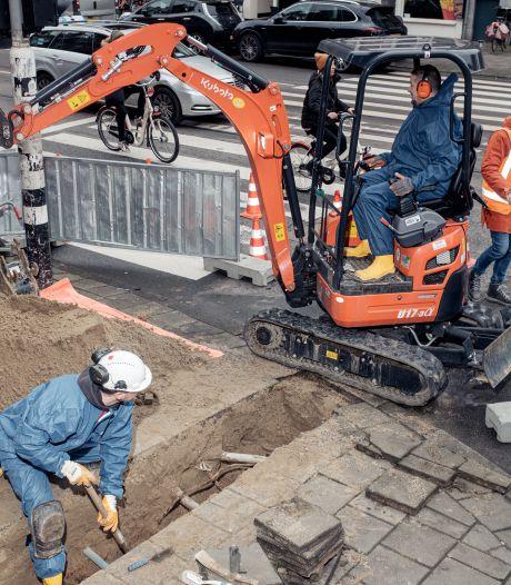 Werkzaamheden op route van Dam naar Mercatorplein veel duurder dan geraamd