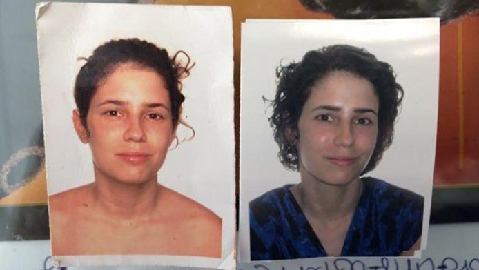 Yael met haar afgewezen en goedgekeurde pasfoto.