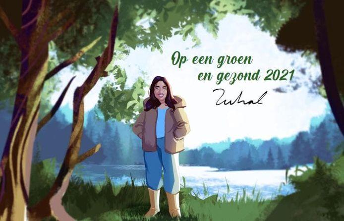 De nieuwjaarskaart van Zuhal Demir.