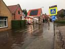Wateroverlast in Oud-Vossemeer, net over de grens van West-Brabant.
