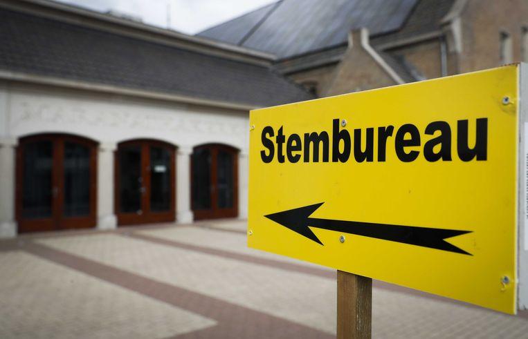 Een stembureau in Nederland Beeld ANP