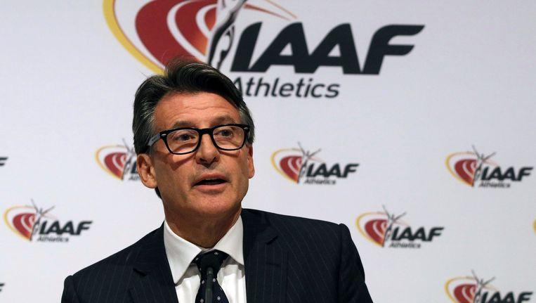IAAF-voorzitter Sebastian Coe.