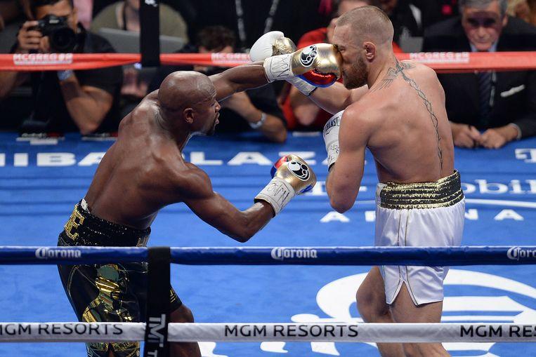 Floyd Mayweather haalt uit naar Conor McGregor Beeld USA Today Sports